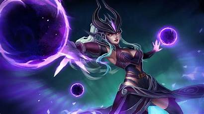 Syndra League Legends Wallpapers Background Lol Build