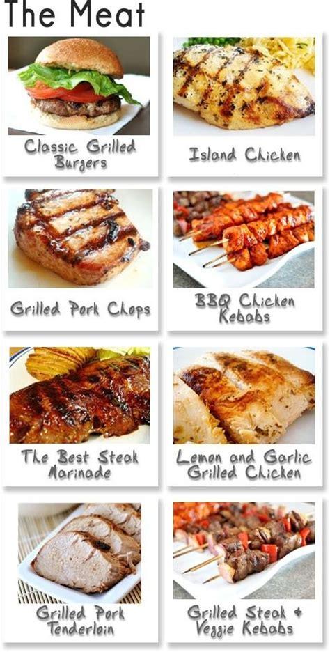 dinner ideas on the grill bbq menu party ideas pinterest