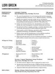 clinical laboratory technician resume sles laboratory sales resume