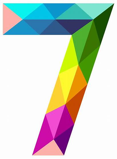 Number Clipart Colourful Yopriceville Numbers Triangles Graphic