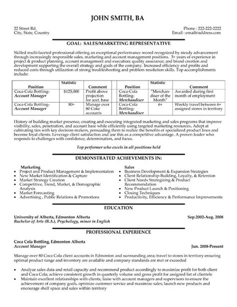 advertising account manager resume resume ideas