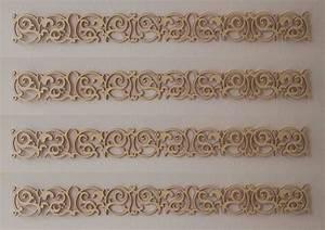 Holz Ornament Wand : holzornament bord re 233 welle verzierung m bel applikation ~ Whattoseeinmadrid.com Haus und Dekorationen