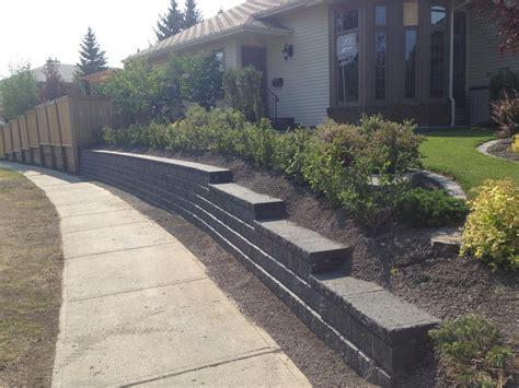 Pisa Retaining Wall by Retaining Walls Calgary Landscaping Company Assiniboine