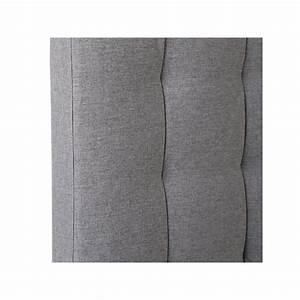 Tete De Lit Tissu Gris : t te de lit tissu gris marion univers de chambre tousmesmeubles ~ Teatrodelosmanantiales.com Idées de Décoration