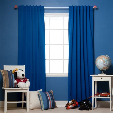 simple toddler bedroom design with insulated royal blue