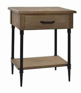 Table De Chevet Metal : table de chevet bois et m tal noir 1 tiroir ~ Melissatoandfro.com Idées de Décoration