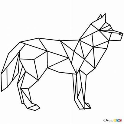 Geometric Animals Wolf Draw Drawing Animal Geometrische