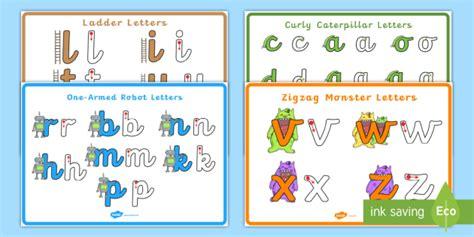 precursive letter formation families poster pack