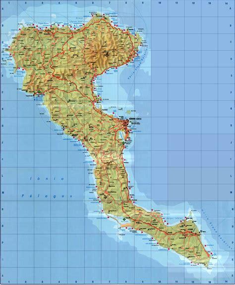 stadtplan von korfu detaillierte gedruckte karten von
