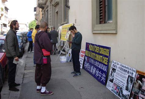 Consolato Cina Firenze by Italia Esposta La Persecuzione Falun Gong Al Consolato