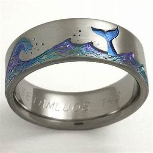 titanium wedding ring by exotica jewelry wedding d With ocean wedding rings