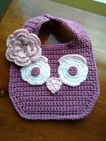Free Owl Pattern Crochet Baby Bibs
