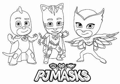 Pj Masks Coloring Pages Children