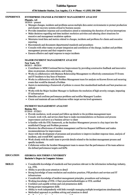 Incident Management Analyst Resume Samples  Velvet Jobs. Robotics Engineering Programs. Accounting Courses In College. Before And After Pictures Of Botox. Minneapolis Breast Augmentation. Database Management Software List. The American University In London. List Of Business Intelligence Tools. Analyst Investment Banking High Myopia Lasik