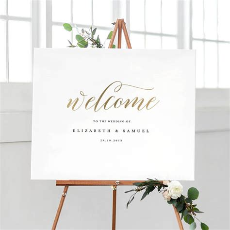 wedding sign template printable  sign