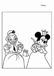 Donald Duck coloring pages - Princesses Daisy Duck and ...