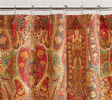 rosalie paisley shower curtain orange home decor