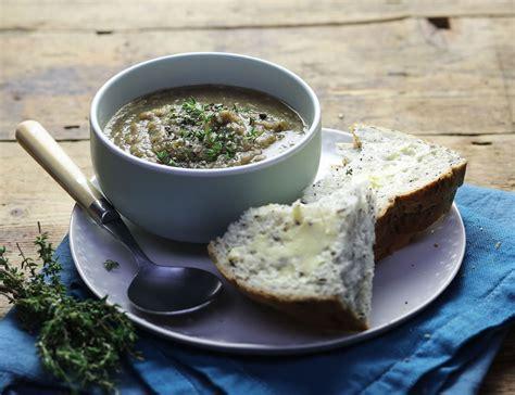 jerusalem artichoke mushroom thyme soup recipe