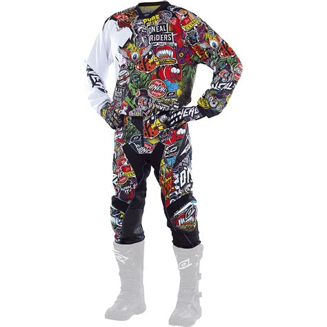 motocross gear for oneal mx new 2017 mayhem crank dirt bike black multi