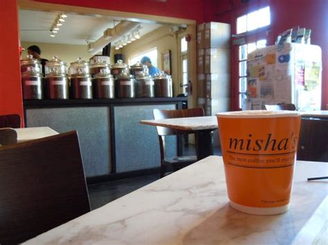 The price of misha coffee is $ 1,400.00 per kilo, and it is processed in the highlands of the peruvian when the coffee cherries ripen, its deep red color, sweet pulp, attract many wild animals, including. Misha's, Alexandria - Old Town - Menu, Prices & Restaurant Reviews - Tripadvisor