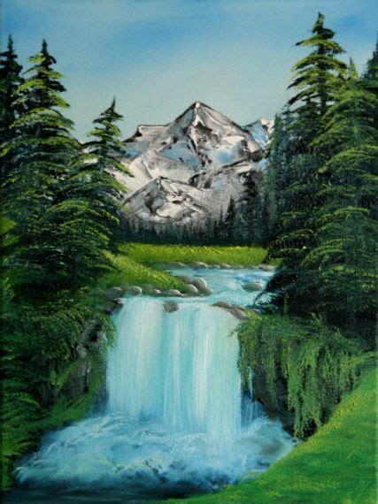 image result  famous waterfall paintings easy
