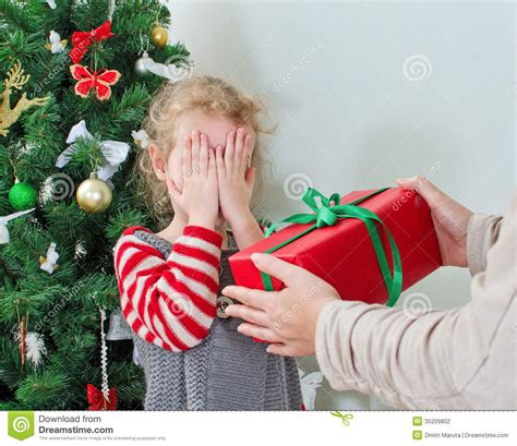 woman surprising little girl stock photography image