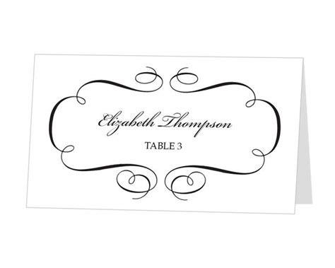 Table Name Cards Template Free