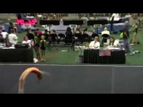 gymnastics level 5 floor routine score 9 5 youtube