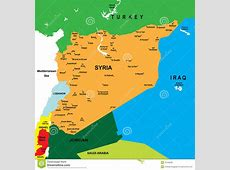 Political Map Of Syria Stock Photo Image 21048200