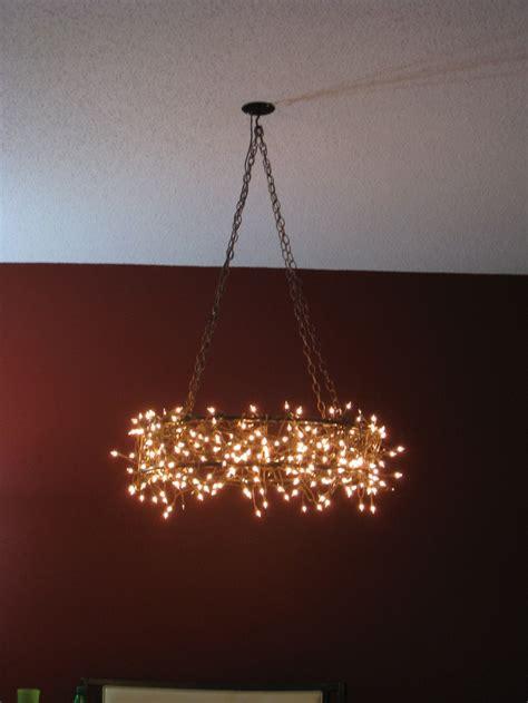 christmas light chandelier jenny wedding pinterest