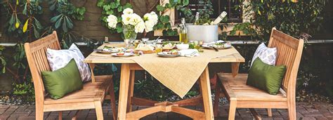 Winston Patio Furniture With Food For Lunch