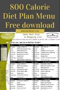 calorie diet plan menu