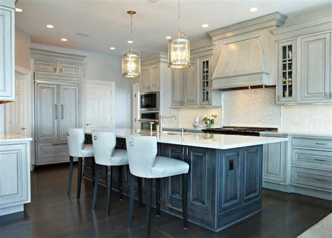distressed gray cabinets distressed gray kitchen cabinets transitional kitchen