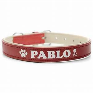 Hundehalsband Mit Namen Leder : hundehalsband mit name rot gravur leder telefonnummer ebay ~ Yasmunasinghe.com Haus und Dekorationen