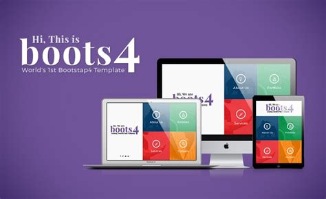 web design bootc boots4 free bootstrap 4 website template limited time