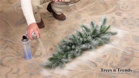flock  snow spray  christmas tree wreath