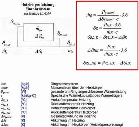 formel fuer heizkoerperberechnung klimaanlage und heizung
