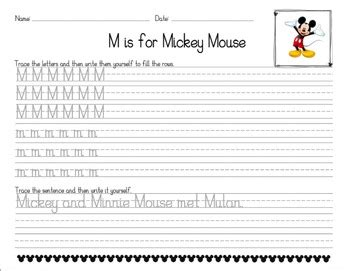 disney themed dnealian handwriting worksheets  todd teaches