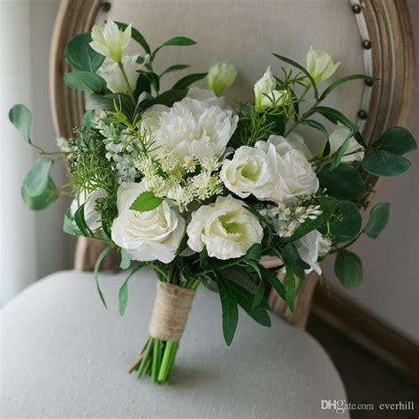 winter wedding boeket white green artificial wedding