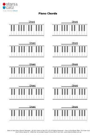 blank piano chord templates sheet image blank templates