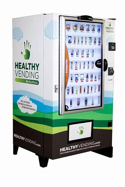 Human Touch Vending Screen Machine Futuristic Healthy