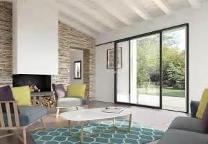 une baie vitr 233 e coulissante pour un espace lumineux i maisons et jardins