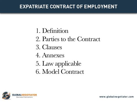 expatriate contract of employment contract template and sle