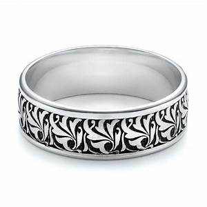 Men39s engraved wedding band 101056 for Engraving on mens wedding rings