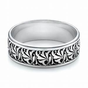 Men39s engraved wedding band 101056 for Engraving on mens wedding rings