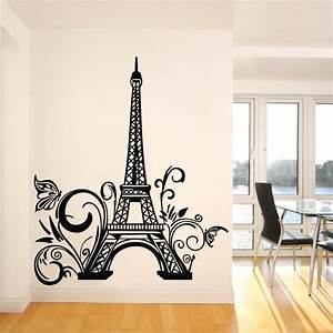 paris eiffel tower wall sticker removable wall decal art With paris wall decor
