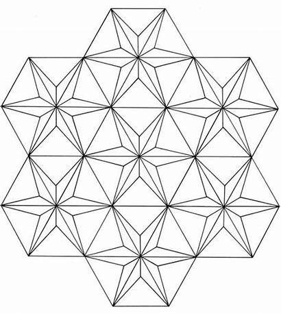 Geometric Coloring 3d Patterns Pages Pattern Triangle