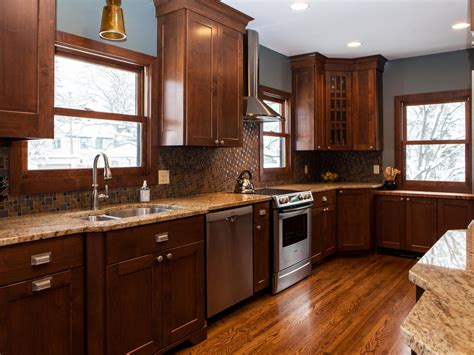 gray kitchen walls brown cabinets tile backsplash ideas pictures tips from hgtv kitchen 6907