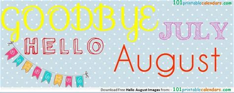 Hello August Goodbye July Clipart Banners FB Cover | Hello ...