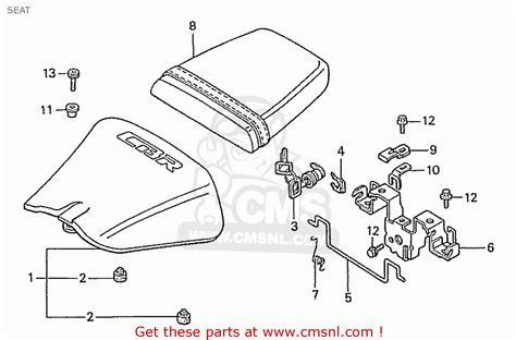 honda cbr400rr 1989 k domestic nc23 109 seat schematic partsfiche